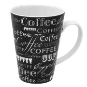 R Squared 15 oz. Coffee Words Mug (Set of 4)