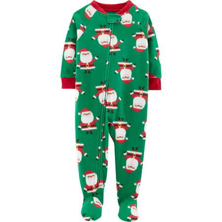 - Child of Mine by Carter's Christmas Microfleece Footed Blanket Sleeper (Baby Boys & Toddler Boys)