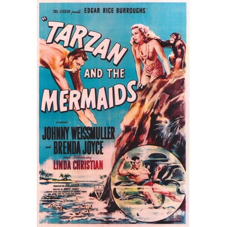 Tarzan and the Mermaids POSTER Movie (27x40) - Tarzan Halloween