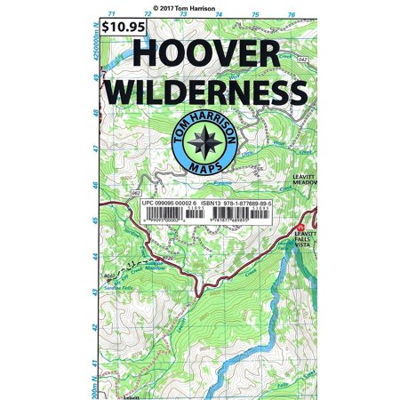 Tom Harrison Maps: Hoover Wilderness Trail Map: Shaded-Relief Topo Map  (Other)