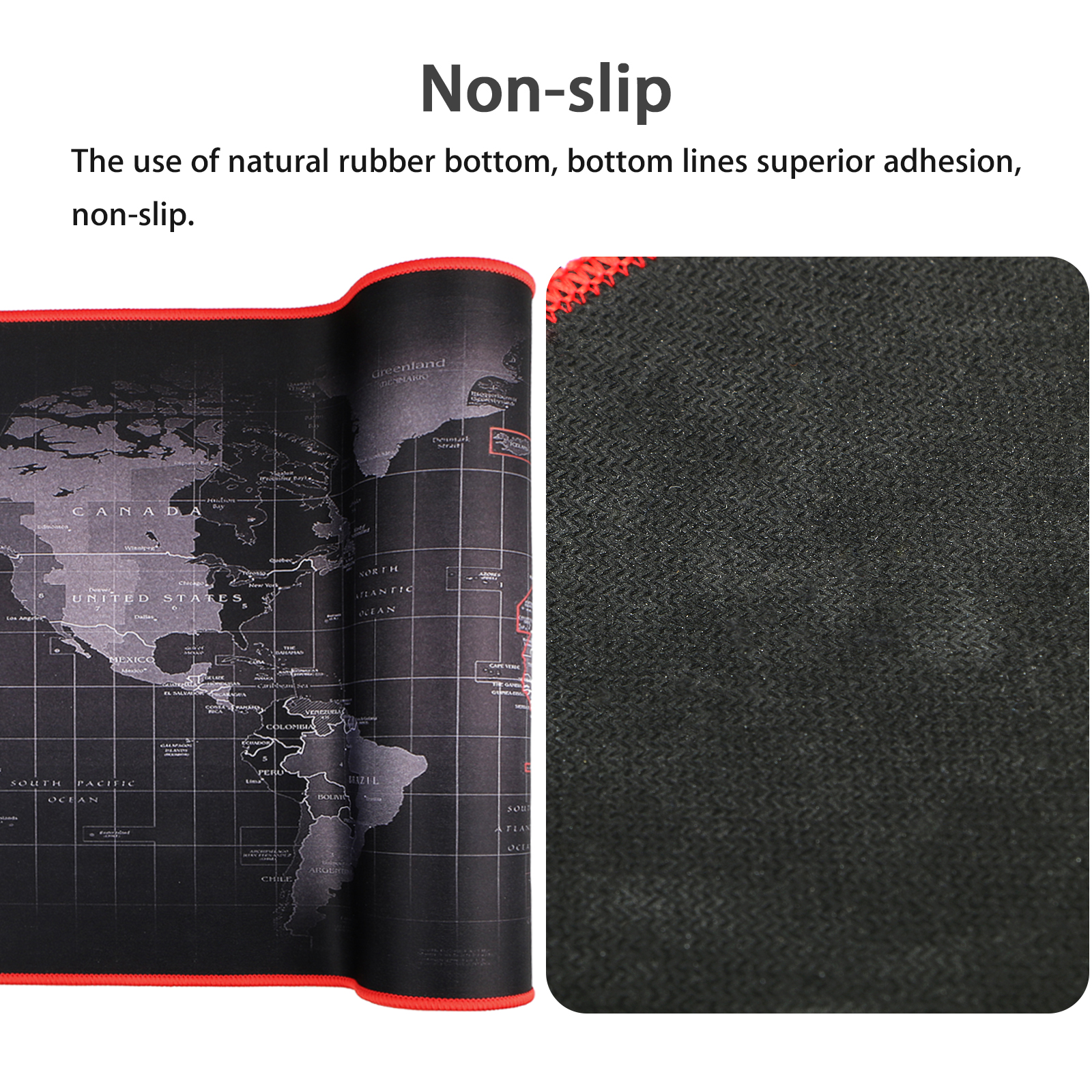 """EEEKit Extended XXL Gaming Mouse Pad Portable Large Desk Pad Non-slip Rubber Base (World Map 31.5""""x11.8"""")"""