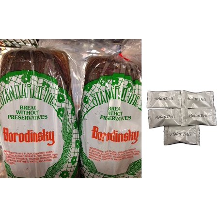 Russian Borodinsky Bread (Pack of 2). Includes Our Exclusive HolanDeli Chocolate Mints. ()