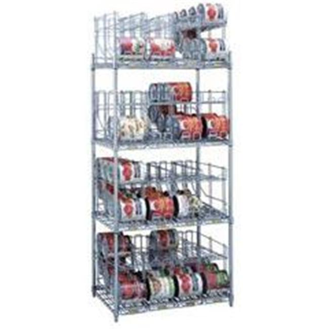 R&B Wire CRS4243672 Metal Frame Can Storage and Dispensing Rack System - 4 Tiers