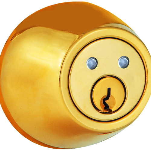 Morning Industry Inc RF-01P Remote Deadbolt, Polished Brass