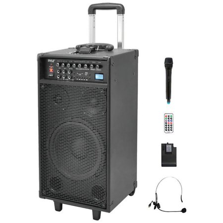 pwma1090ui pyle pro dual channel wireless portable pa system. Black Bedroom Furniture Sets. Home Design Ideas