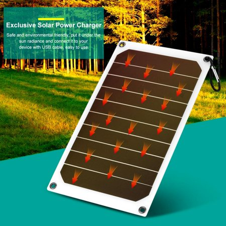 Zerone Portable 10W Outdoor IP64 Waterproof Solar Panel Mobile Power Charger 5V USB Output,Solar Charger,Portable Solar Power Bank ()