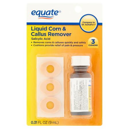 (4 Pack) Equate Liquid Corn and Callus Remover , 0.31