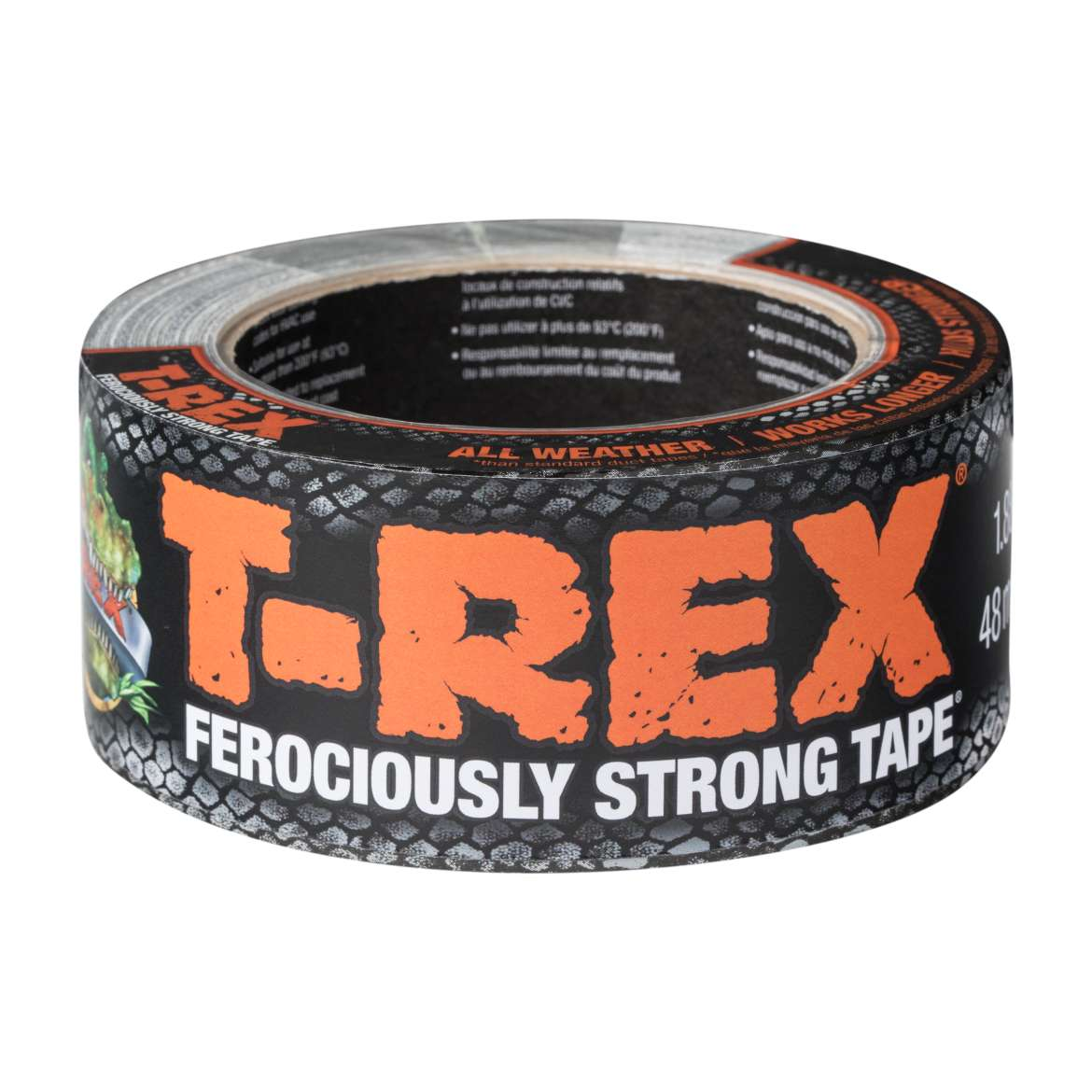 "T-Rex Ferociously Strong Repair Tape, Gunmetal Grey, 1.88"" x 12 yards"