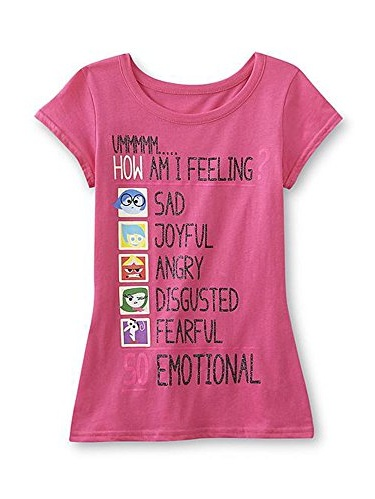 Inside Out Pink How Am I Feeling T-Shirt (Extra Large 14-16)
