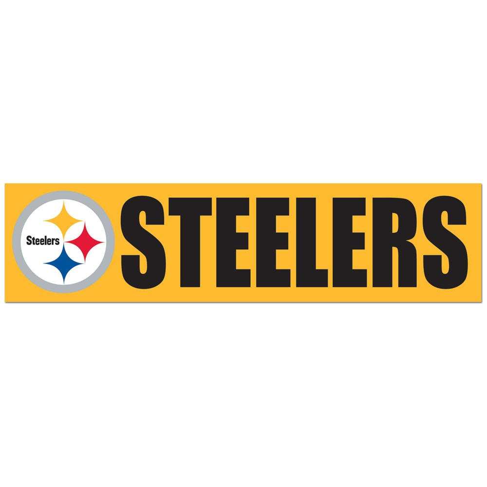 Pittsburgh Steelers Official NFL 3 inch x 12 inch Bumper Sticker by ...