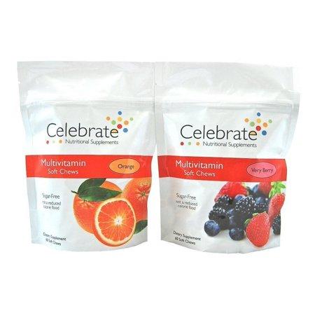Celebrate Sugar Free Multivitamin Soft Chew   Available In 2 Flavors