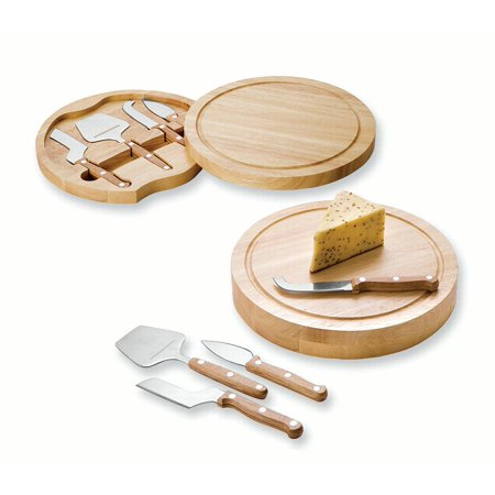 White Teak Circular Cheese Cutting Board Hostes Household Entertaining Serving Tray Plate Bowl Item Set Gifts For Women For