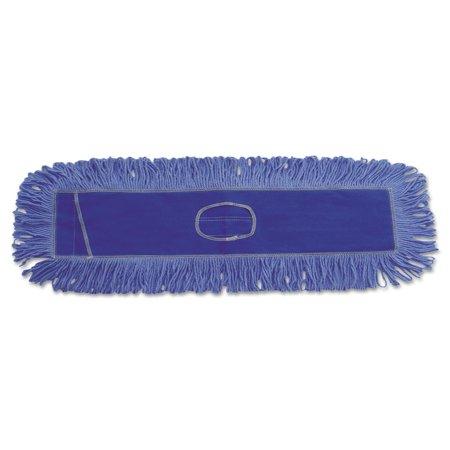 Looped End Dust Mop (Boardwalk Dust Mop Head, Cotton/Synthetic Blend, 36 x 5, Looped-End, Blue -BWK1136)
