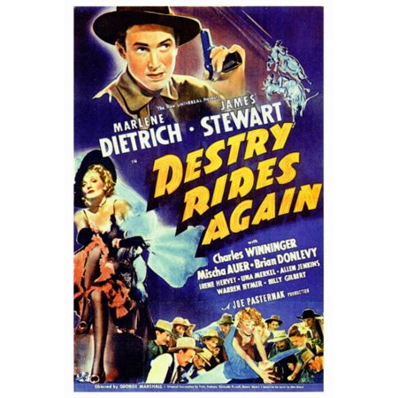 Destry Rides Again Movie Poster Print (27 x (Alvin Poster)