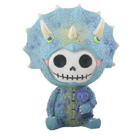 Furrybones Spike Skeleton Dressed in a Triceratops Dinosaur Costume Figurine New (Toddler Triceratops Costume)