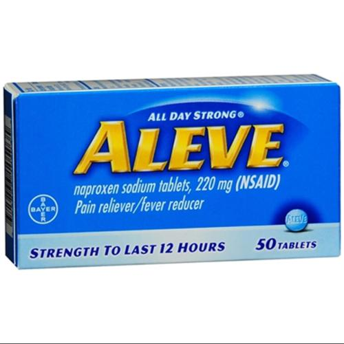 Aleve Tablets 50 ea (Pack of 2)