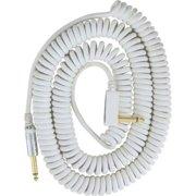 Vox Premium Vintage Coiled Guitar Cable 9m - White