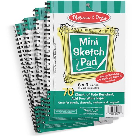 Melissa and Doug Mini-Sketch Spiral-Bound Pad, 6