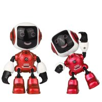 Electric LED Sound Intelligent Alloy Robot Toys Novelty Phone Stand For 2019 hotsales kids