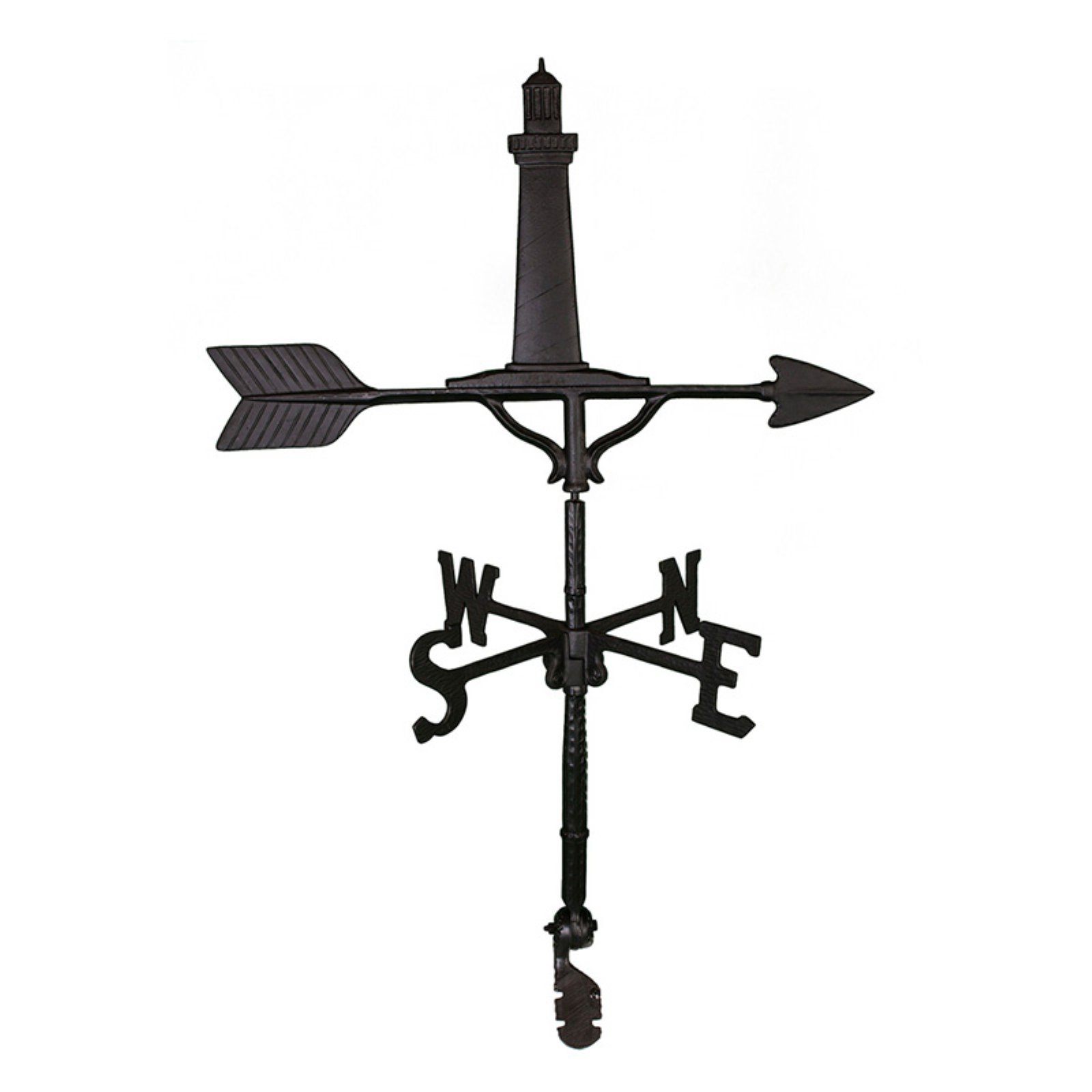 Black Cape Cod Lighthouse Weathervane 32 in. by Montague Metal Products