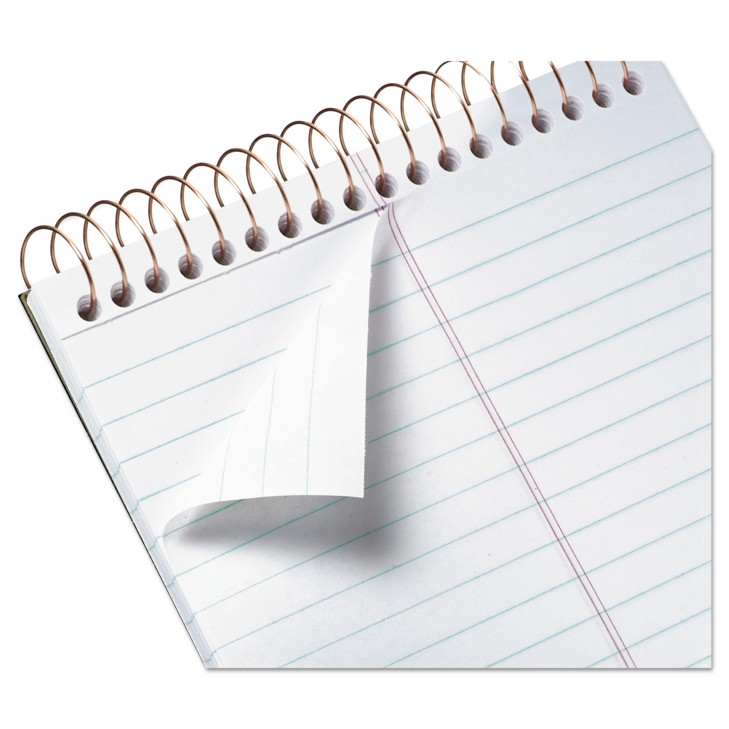 Ampad Gold Fibre Spiral Steno Book, Gregg, 6 x 9, White/Green, 100 Sheets