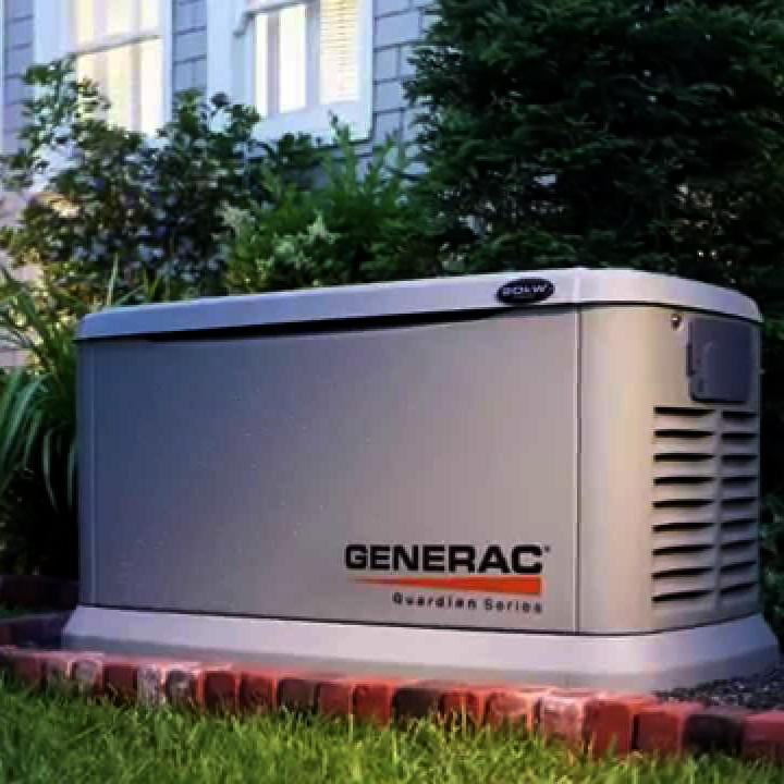 Generac 6237 Guardian 8,000 Watt Propane Natural Gas Standby Power Generator