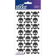 Sticko Stickers-Black Metal Skulls