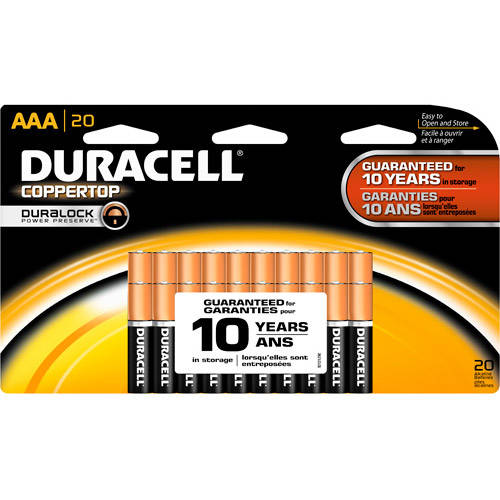 Duracell Coppertop AAA Household Batteries 20 Count