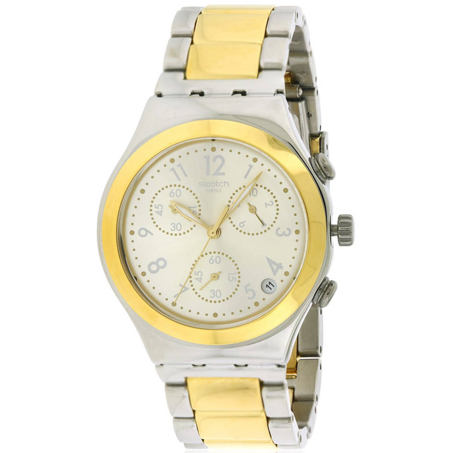Swatch DREAMNIGHT GOLDEN Two-Tone Chronograph Unisex watch YCS590G by Swatch