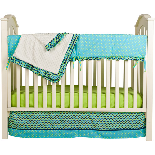 Pam Grace Creations Simply ZigZag 4-Piece Crib Bedding Set