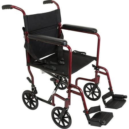 ProBasics Medical Transport Chair:; TCA1916BG LIGHTWEIGHT Aluminum Transport Wheelchair, -