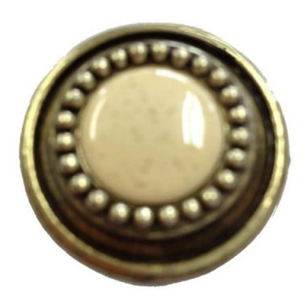 (5 Pack) Oatmeal Ceramic Beaded Sundial Knob 1-1/4