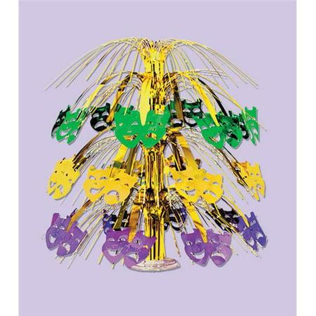 Mardi Gras Cascade Centerpiece - Pack of 6 - Mardi Gra Centerpieces