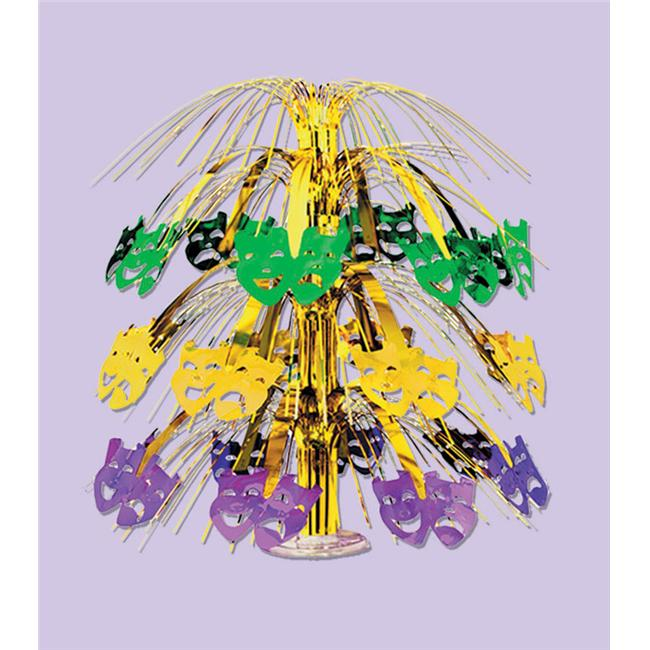 Mardi Gras Cascade Centerpiece - Pack of 6
