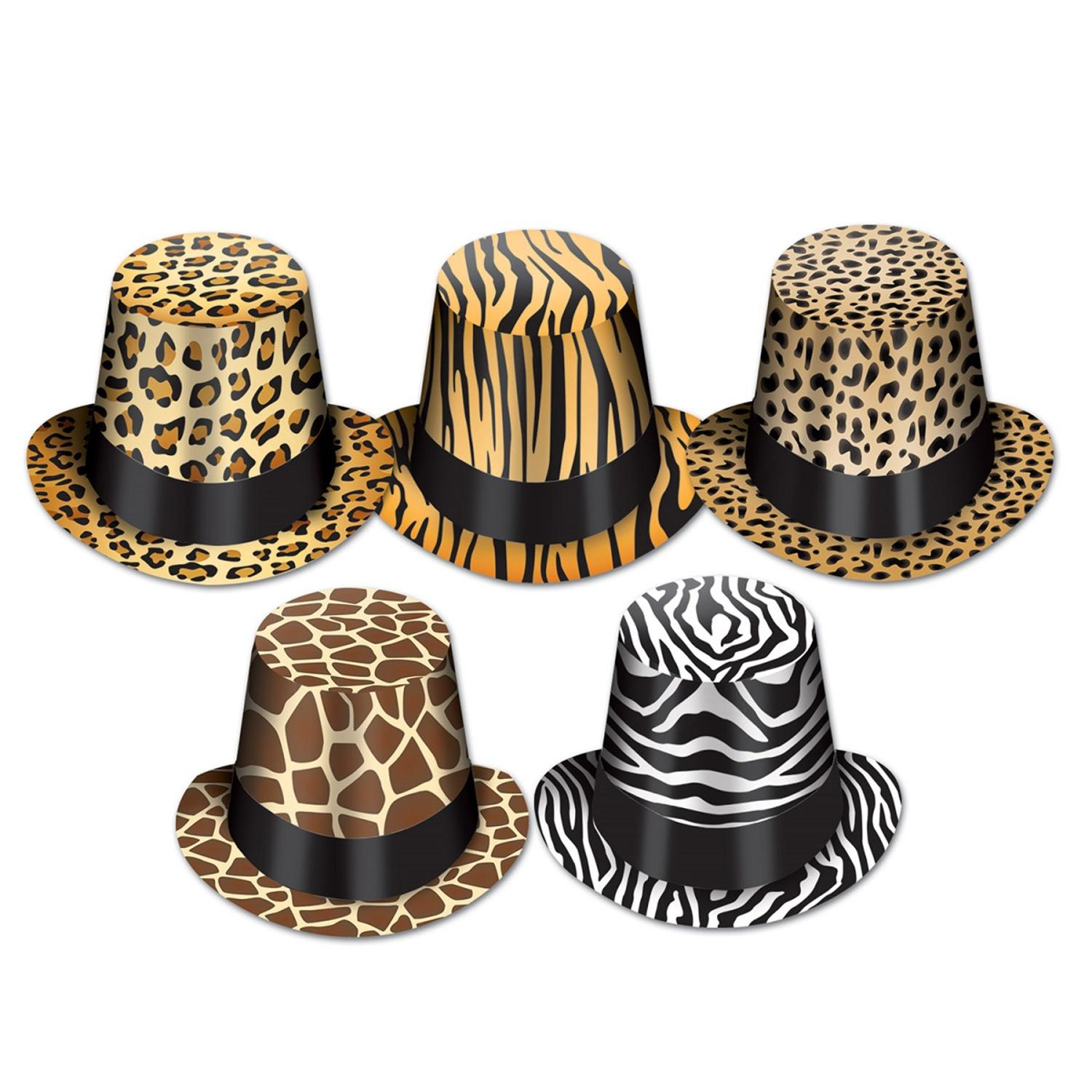 Club Pack of 25 Variety Pack Animal Print Hi-Hat Costume Accessories
