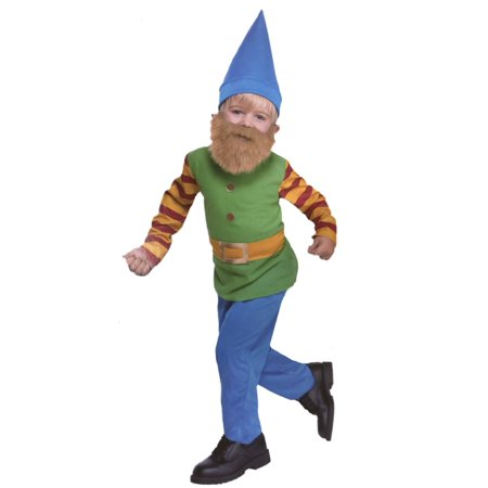 Toddler Lil Bearded Boys Gnome Costume Garden Troll - Gnome On A Toadstool Costume
