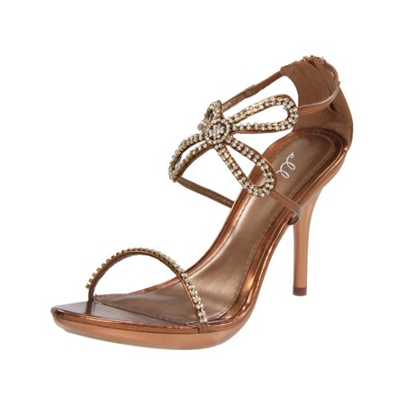 953c7113369 ellie - 4 Inch Rhinestone Butterfly Shoes Strappy High Heel Sandals Womens  Sexy Shoes - Walmart.com