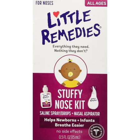 Little Remedies  White Plastic Stuffy Nose Kit (Best Way To Clear Up Stuffy Nose)