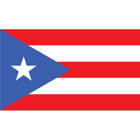 2-Pack Puerto Rico Flag Decal Sticker | 5-Inches By 3-Inches | Laminated Vinyl Decal | PDS513