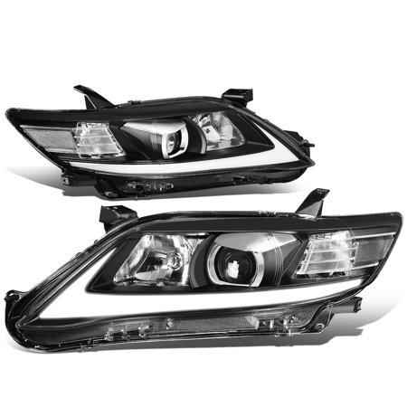 Toyota Camry Right Headlight - For 2010 to 2011 toyota Camry Sequentiel LED Turn Signal+3D DRL Light Bar Projector Headlight Black Housing Headlamp Left+Right