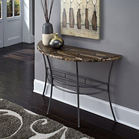 Home Styles Turn to Stone Console Table in Petrified Wood and Gray