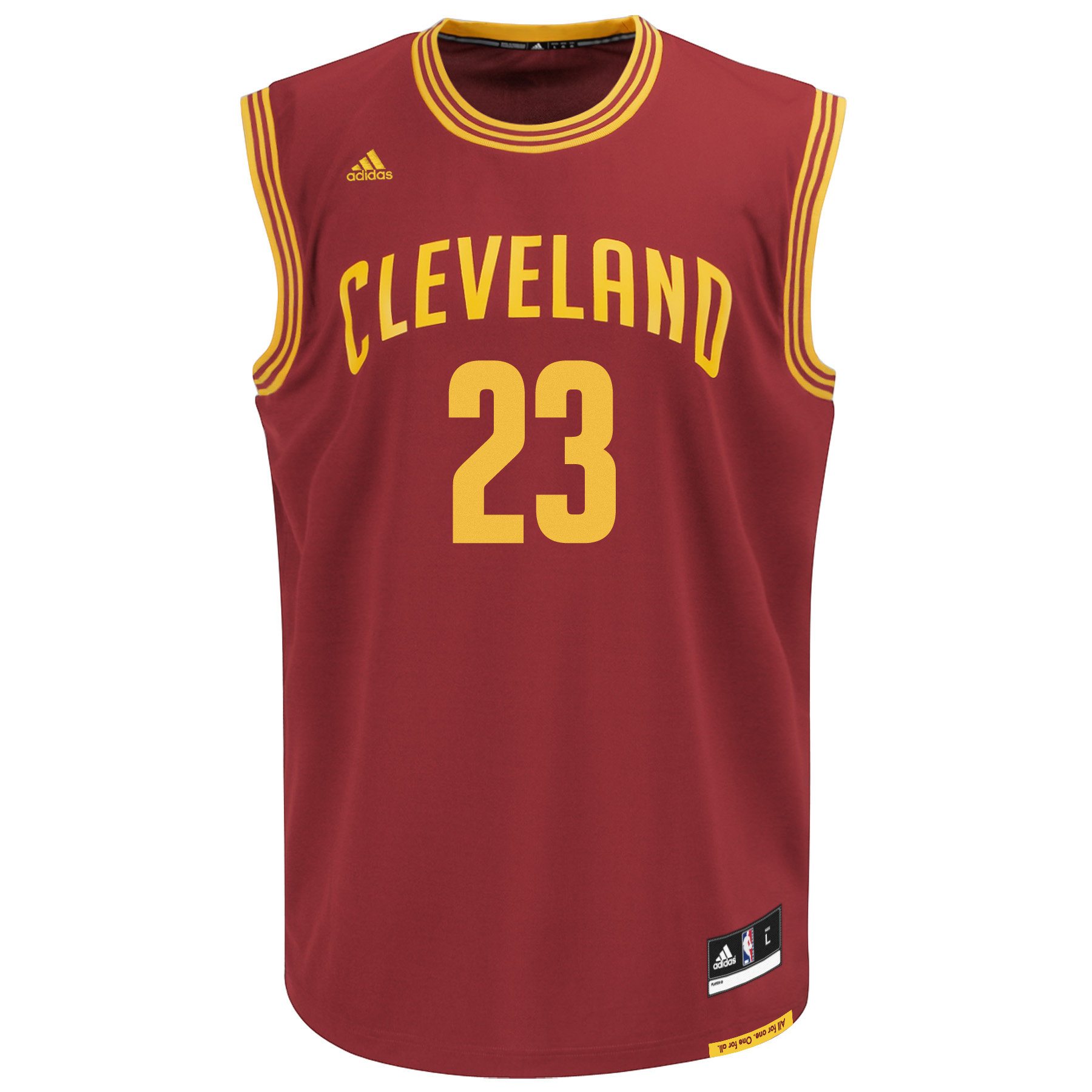 Lebron James Cleveland Cavaliers Youth Adidas NBA Replica Jersey - Red