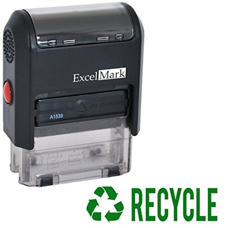Recycled Stamp (RECYCLE Self Inking Rubber Stamp - Green Ink (ExcelMark A1539))
