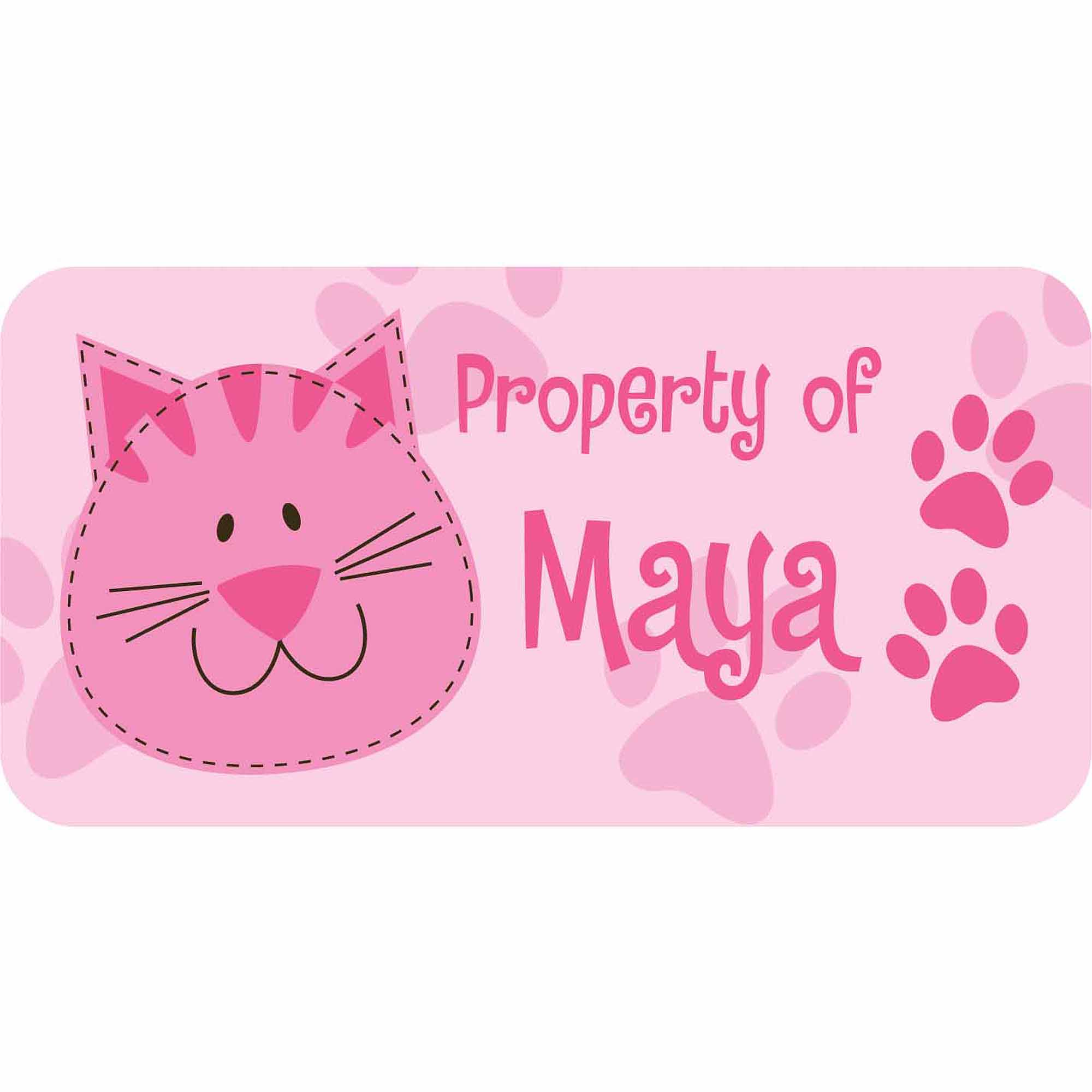 Personalized Kids Property Labels, Cat
