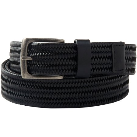 Kingsize Men's Big & Tall Stretch Leather Braided