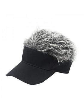 Golf Baseball Cap Adjustable Breathable Outdoor Sports Camping Hiking Fake Flair Hair Sun Visor Hat