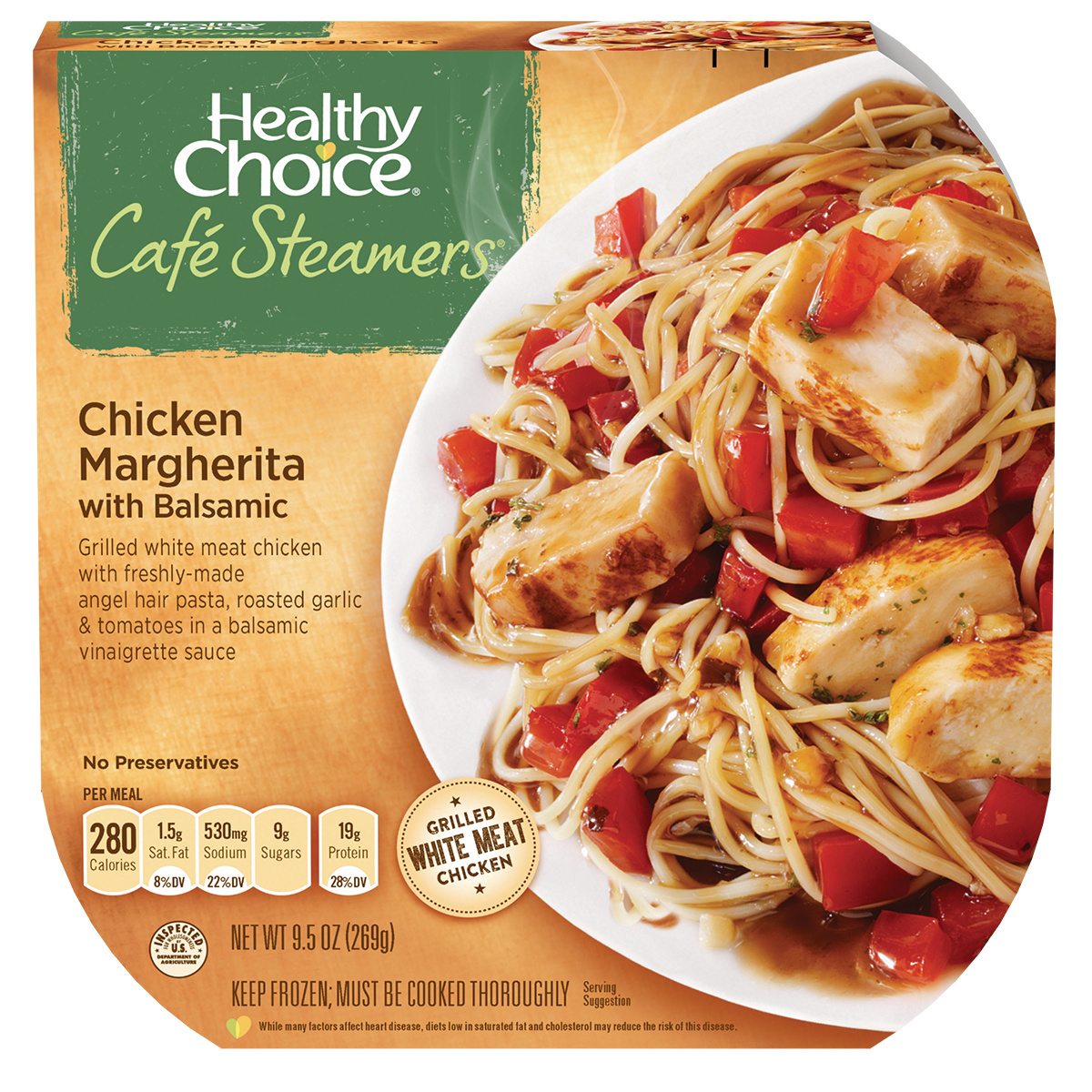 Healthy Choice Cafe Steamers Top Chef Chicken Margherita with Balsamic, 9.5 oz