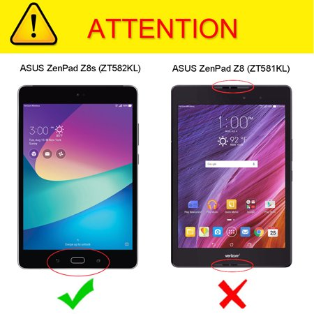 Fintie SlimShell Case for Verizon ASUS ZenPad Z8s (ZT582KL) - Ultra Lightweight Stand Cover W/ Auto Wake/Sleep, Navy - image 1 de 7