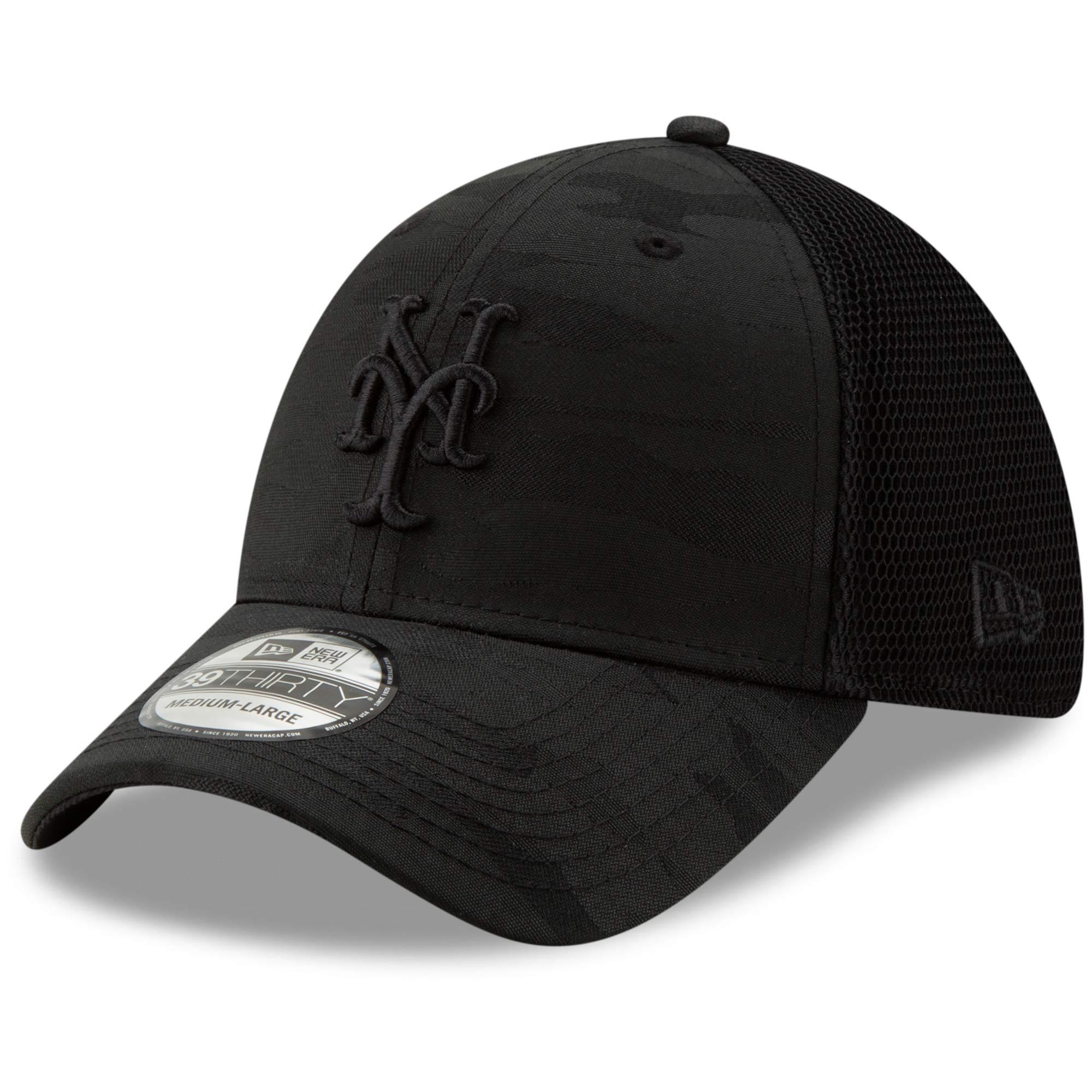 New York Mets New Era Camo Front Neo 39THIRTY Flex Hat - Black