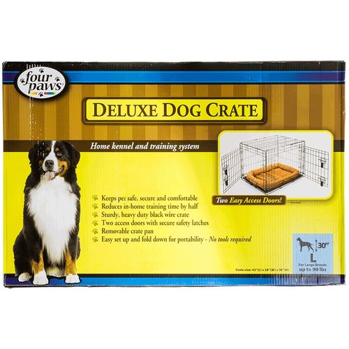 Four Paws Deluxe Dog Crate - Double Door